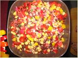 Colorful Chickpea and Black Bean Salad