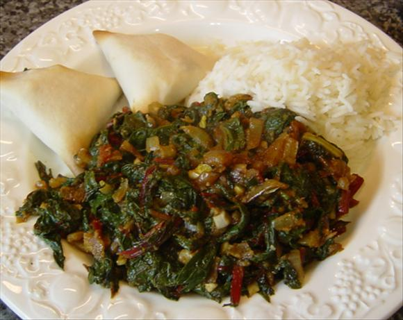 Red Chard Saag. Photo by Sackville