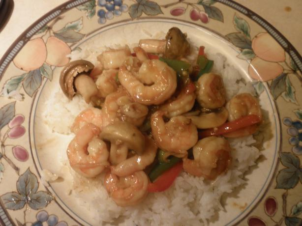 Shrimp & Peppers Stir Fry. Photo by Cher Jewhurst