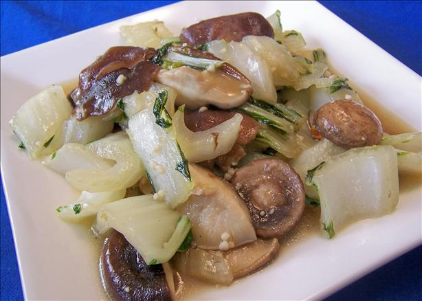 Bok Choy and Shiitakes. Photo by *Parsley*