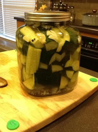 Kittencal's Easy Refrigerator Kosher Garlic-Dill Pickles. Photo by Caseypratt