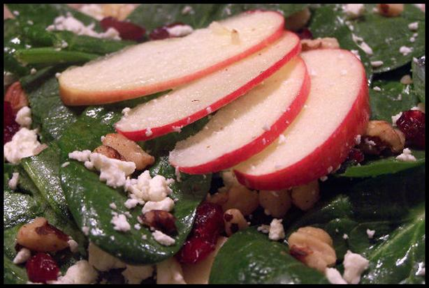 Spinach Salad With Feta Cheese. Photo by NcMysteryShopper