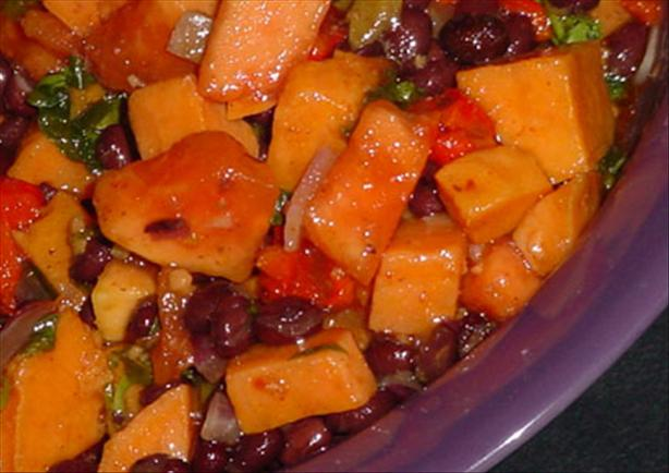 Sweet Potato Black Bean Salad. Photo by justcallmetoni
