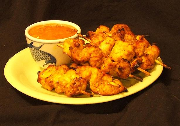 Beef or Chicken Satay With Peanut Sauce. Photo by Fairy Nuff