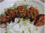 Cajun Shrimp over Coconut Rice