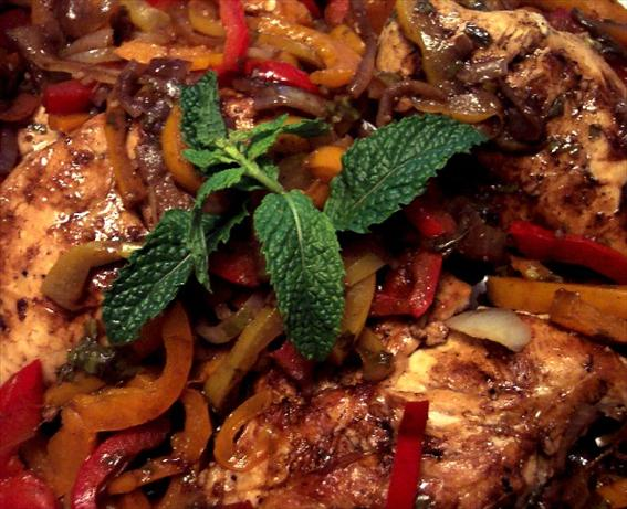 Balsamic Chicken Breasts With Peppers and Onions. Photo by HeatherFeather