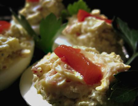 Deliciously Devilish Eggs. Photo by Caroline Cooks