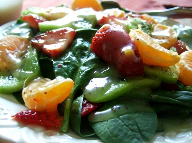 Spinach, Strawberry, Mandarin Salad With Poppy Seed Dressing. Photo by HokiesMom