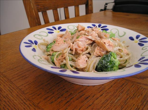 Lisa's Salmon Ricotta Broccoli Linguini. Photo by Lisa in Canada