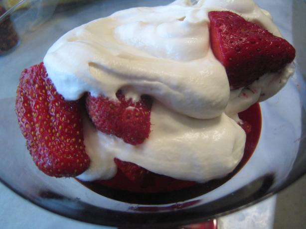 Strawberries Romanoff Taste Just Like La Madeleine -Copycat. Photo by pattikay in L.A.
