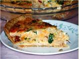 Chorizo, Crabmeat Quiche