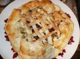 Rustic Apple and Dried Cranberry Pie