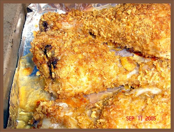 Corn Flake Drumsticks Bake. Photo by lets.eat