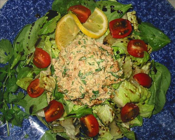 South Beach Style Tuna Salad With Low Fat Cilantro Mayo. Photo by shimmerchk