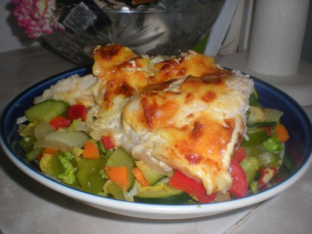 Cheesy Baked Fillet of Fish Casserole. Photo by ByNDii