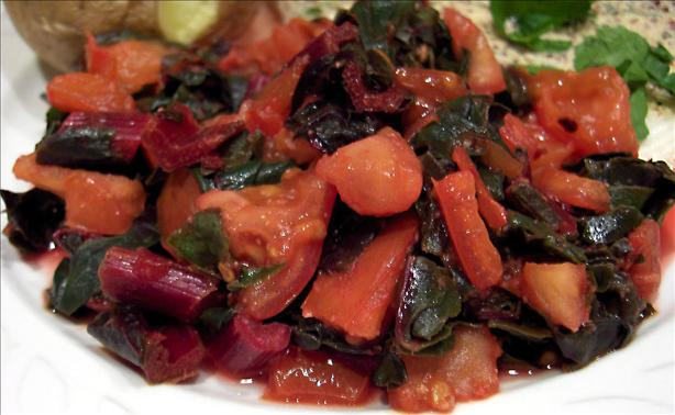 Swiss Chard With Tomatoes. Photo by Derf