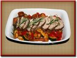 Pork Tenderloin on a Vegetable Bed