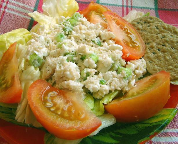 Creamy Cheesy Crab Salad. Photo by Derf