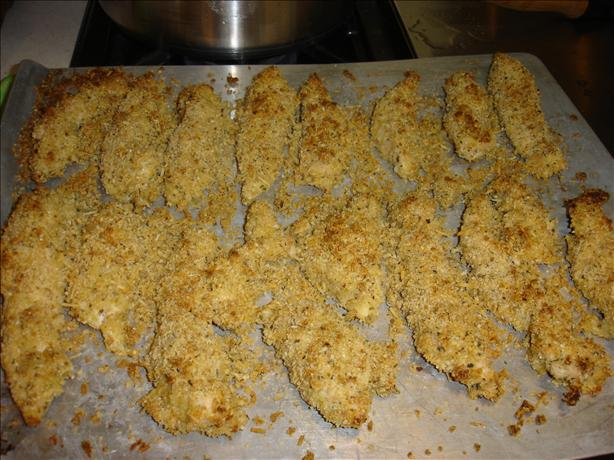 Oven-baked Parmesan Chicken Strips. Photo by Bec