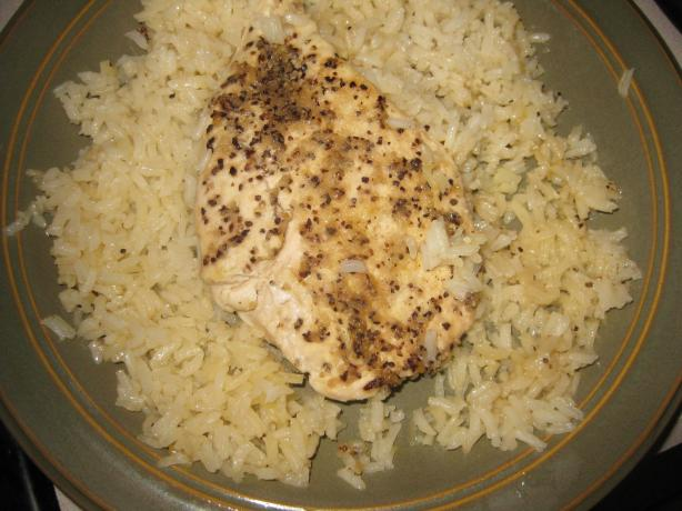 Lemon Pepper Chicken Breasts on a Bed of Rice. Photo by Chef #1128735