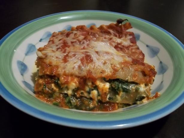 Portabella Mushroom With Spinach and Feta Lasagna (Vegetarian). Photo by rpgaymer