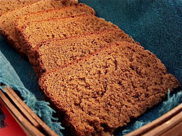 Pumpernickel Onion Bread ( Breadmaker 1 1/2 Lb. Loaf). Photo by PaulaG