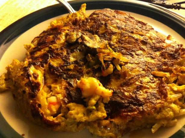 Shrimp Egg Foo Yong  (Low Carb and Low Fat). Photo by robynherron