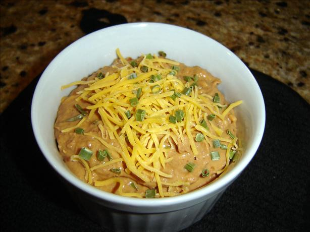 Low-fat Hot Mexican Bean Dip. Photo by Chris from Kansas