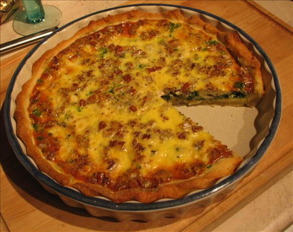 Spinach, Roquefort and Walnut Quiche. Photo by stormylee