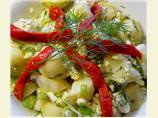Moldavian Potato, Feta and Scallion Salad