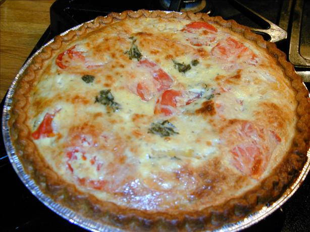 Tomato, Basil, Yogurt Tart. Photo by Barb Gertz
