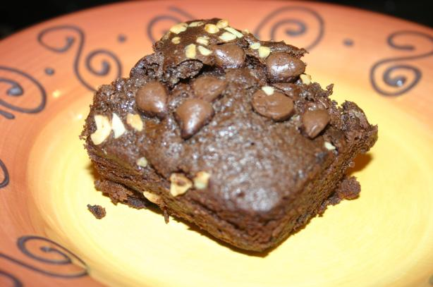 Quick Mix in the Pan Double Chocolate Chip Cake. Photo by my3beachbabes