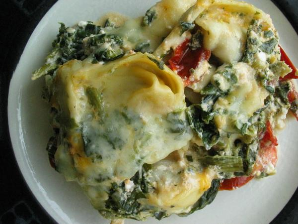 Tortellini  and Spinach Bake. Photo by flower7