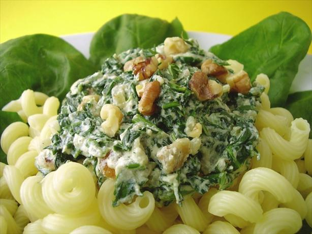 Spinach and Ricotta Cheese Sauce for Pasta. Photo by Thorsten