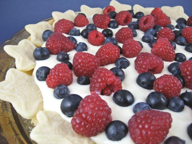 Raspberry Blueberry Star Tart. Photo by Kathy at Food.com