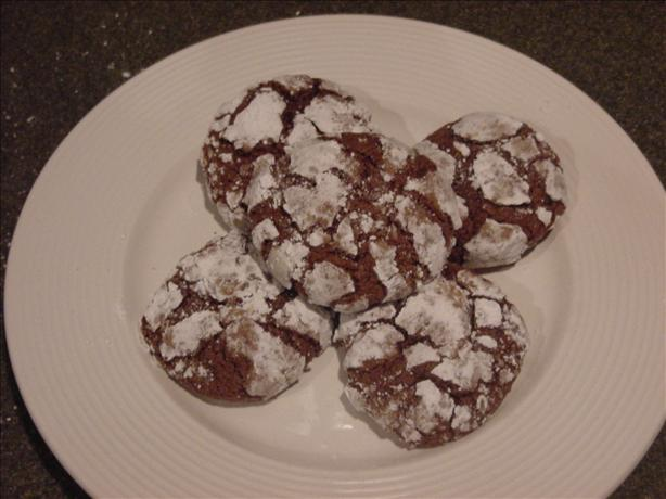 Chocolate Crinkle Cookies. Photo by Ben's Mom