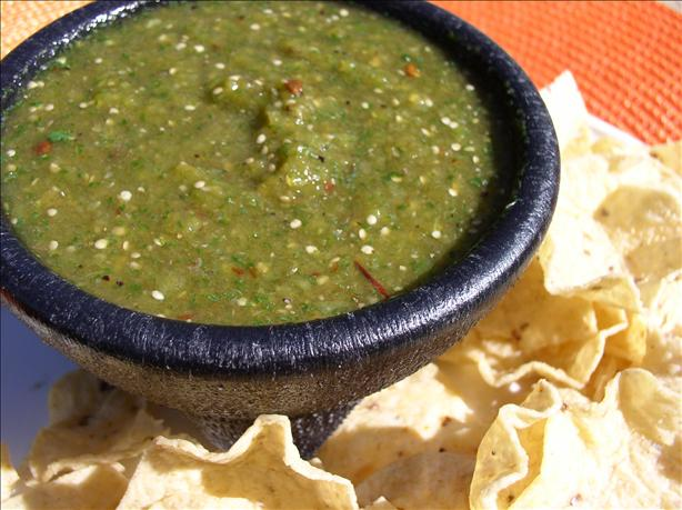 Smoky, Spicy Tomatillo Salsa Verde Aka Green Hell!. Photo by Bayhill