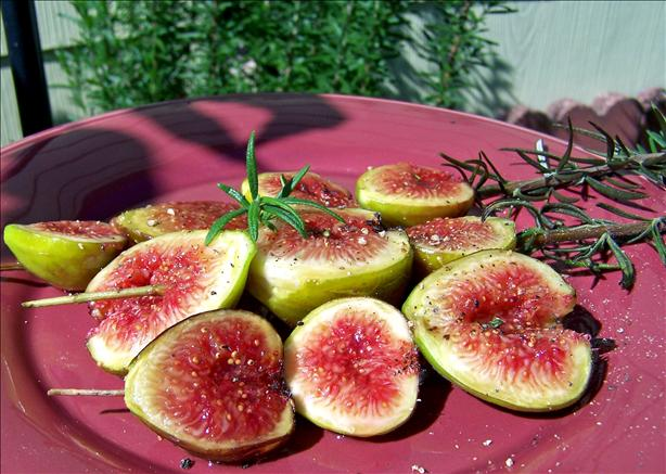 Grilled Fresh Figs on Rosemary Skewers. Photo by Rita~