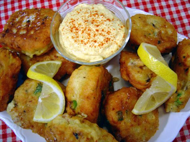 West Indies Fish Cakes With Curry Aioli. Photo by :(