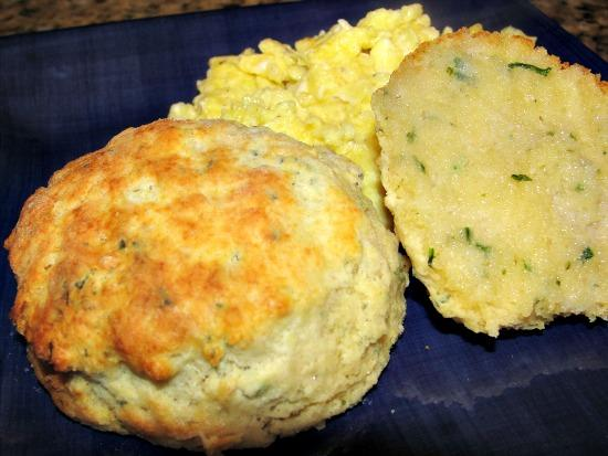 appetizer ham and herbed biscuit or roll