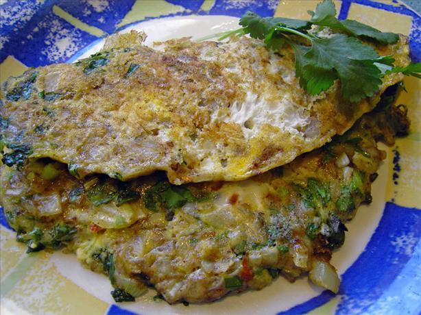 Indian Veggie Omelette Recipe