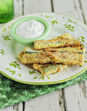 Wonderful Parmesan Zucchini Strips. Photo by Dine & Dish