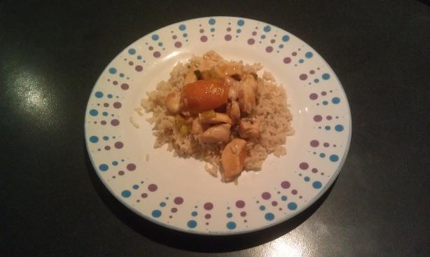 Apricot Ginger Chicken. Photo by Satyne