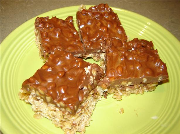 Microwave Buckaroo Bars (chocolate, Peanut Butter & Oatmeal). Photo by MA HIKER