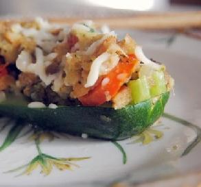 July 31: Stuffed Zucchini