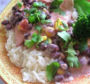 Creamy Chicken With Black Beans