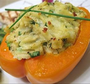 Jan 5:  Potato-Stuffed Red Bell Peppers