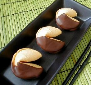 Feb. 10:  Chocolate-Dipped Fortune Cookies
